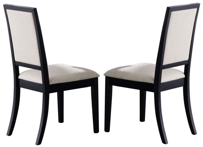 Louise Upholstered Dining Side Chair in Black