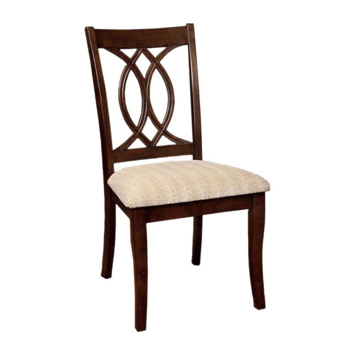 Carlisle CM3778SC Transitional Brown Cherry Finish Side Chair Set of 2