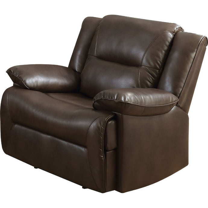 Acme Romulus Espresso Leather Glider Recliner Chair