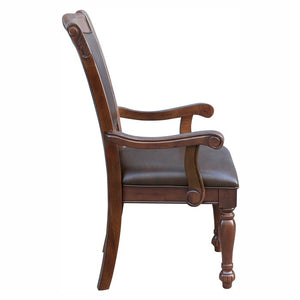 Homelegance Lordsburg Cherry Wood Finish 2 Piece Dining Arm Chair