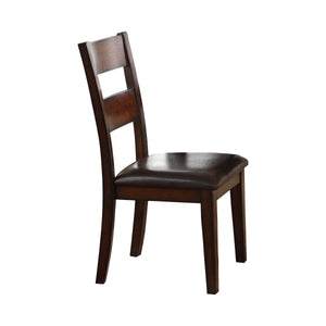Homelegance Mantello Cherry Wood Finish 2 Piece Dining Chair