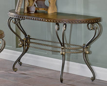Load image into Gallery viewer, Homelegance Jenkins Warm Brown Wood And Metal Finish Console Sofa Table