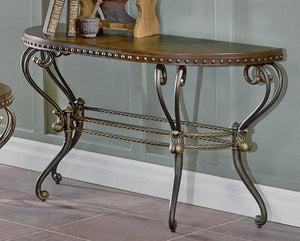 Homelegance Jenkins Warm Brown Wood And Metal Finish Console Sofa Table