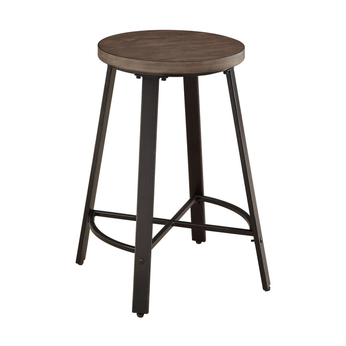 Homelegance Cherve Rustic Wood Finish 2 Piece Bar Stool