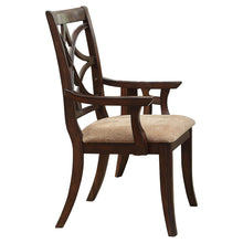 Load image into Gallery viewer, Homelegance Keegan Cherry Wood Finish 2 Piece Dining Arm Chair