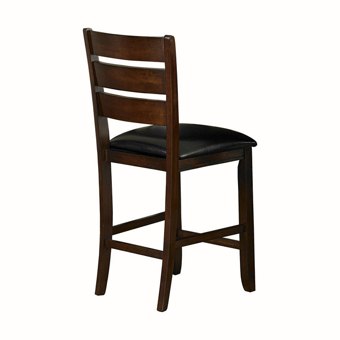 Homelegance Ameillia Dark Oak Wood Finish 2 Piece Counter Height Dining Chair