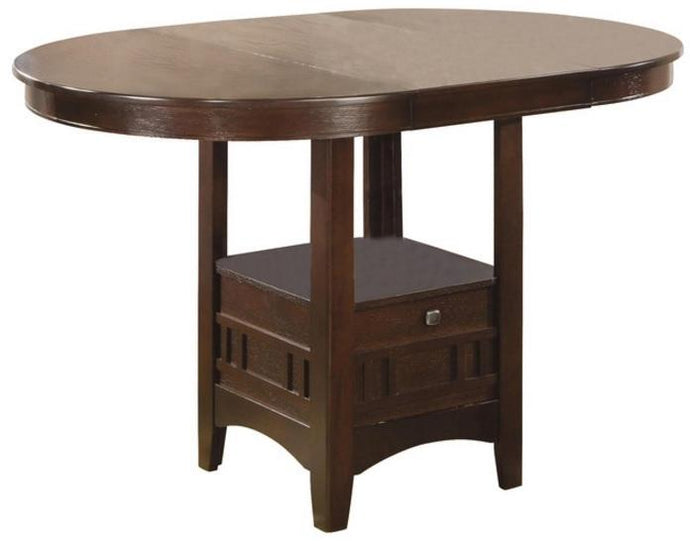 Lavon Dark Cherry Oval Counter Height Dining Table