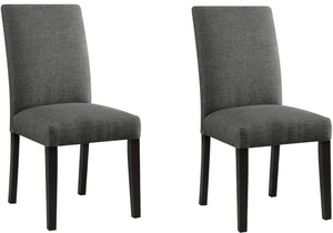 Acme Vriel Charcoal Linen Finish 2 Piece Dining Side Chair