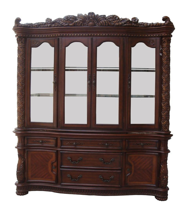 Acme 60006 Vendome Cherry Storage Buffet Hutch China Cabinet