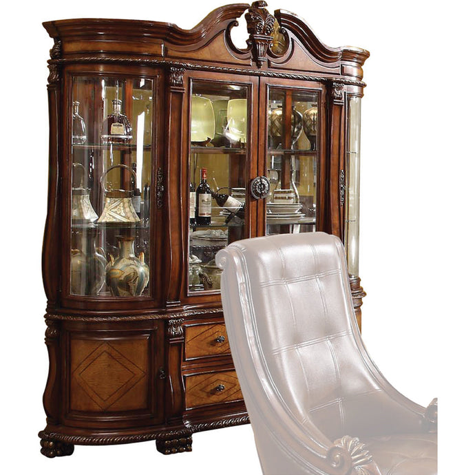Acme 60078 Winfred Cherry Storage Buffet Hutch China Cabinet
