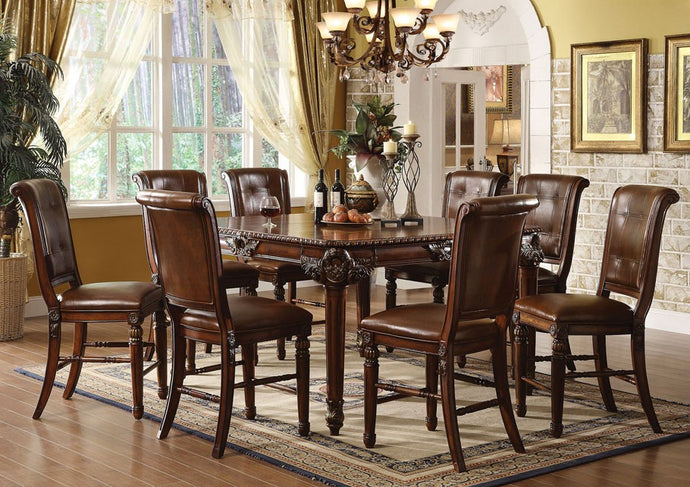 Acme Winfred Cherry Counter Height Dining Set