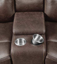 Load image into Gallery viewer, Coaster Hemer Chocolate Microfiber Finish Power Recliner Loveseat