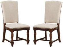 Load image into Gallery viewer, Acme Tanner Cherry Wood And Polyester Finish 2 Piece Dining Chair