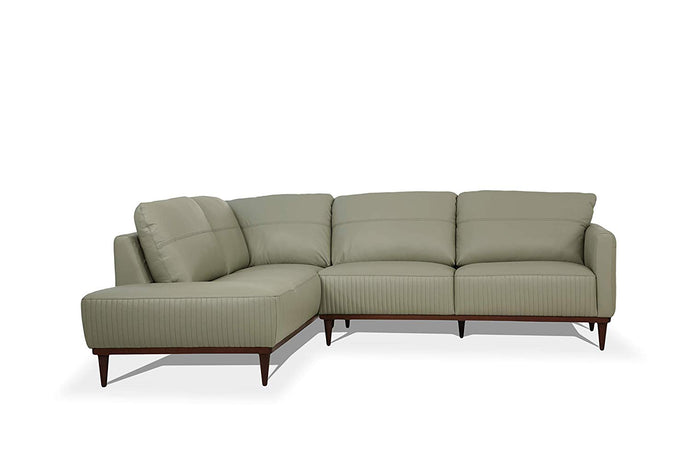 Acme Tampa Airy Green Leather Finish Right Facing Sectional Sofa