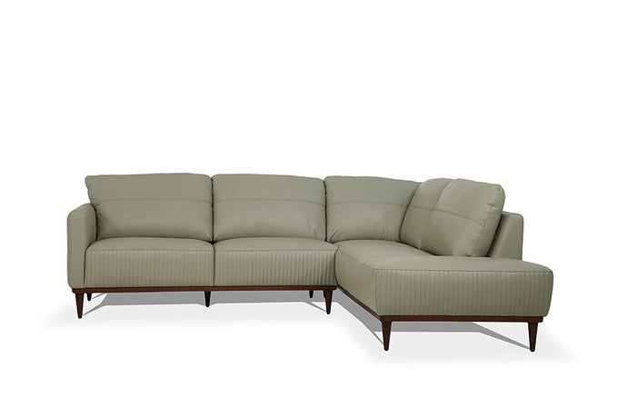 Acme Tampa Airy Green Leather Finish Left Facing Sectional Sofa