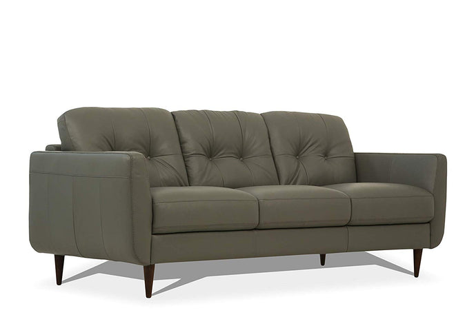 Acme Radwan Pesto Green Leather Finish Sofa