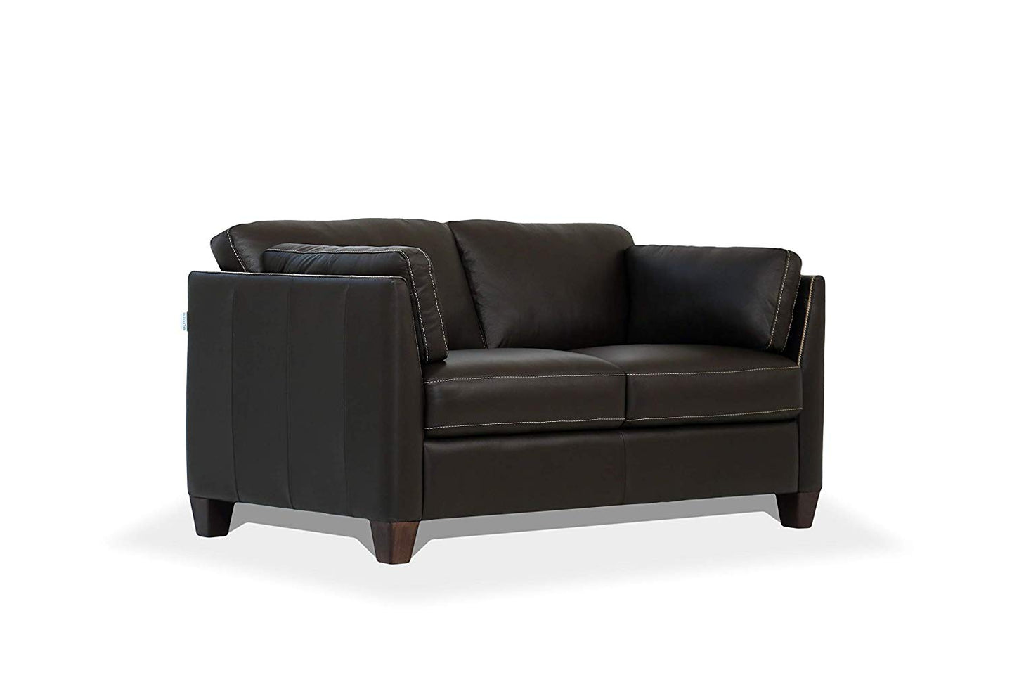 Acme Matias Chocolate Leather Finish Loveseat