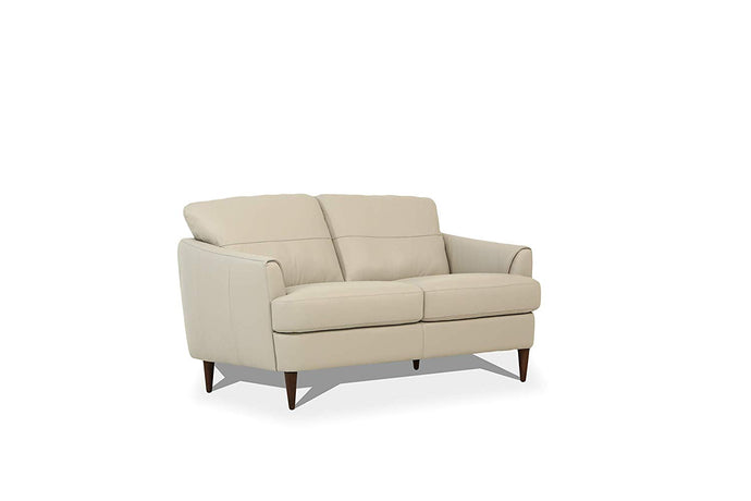 Acme Helena Pearl Gray Leather Finish Loveseat