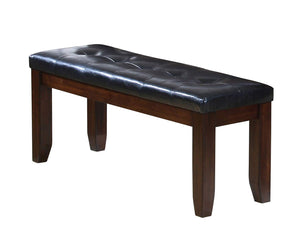 Acme  Urbana Cherry And Black PU Leather Finish Dining Bench