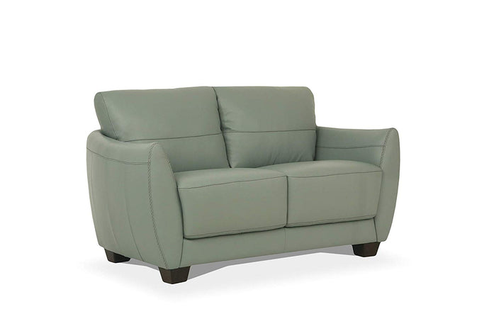 Acme Valeria Gray Leather Finish Contemporary Loveseat
