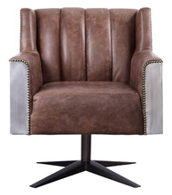 Load image into Gallery viewer, Acme 92553 Brancaster Brown Leather Finish Industrial Office Chair