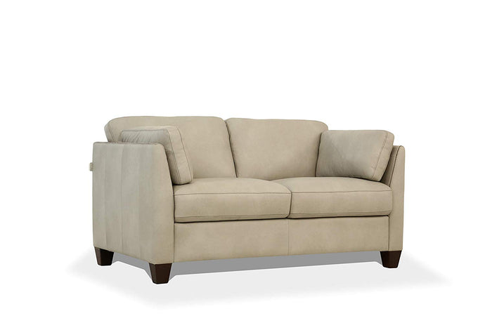 Acme Matias Gray Leather Finish Loveseat