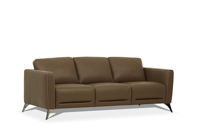 Acme Malaga Taupe Leather Finish Vintage Sofa