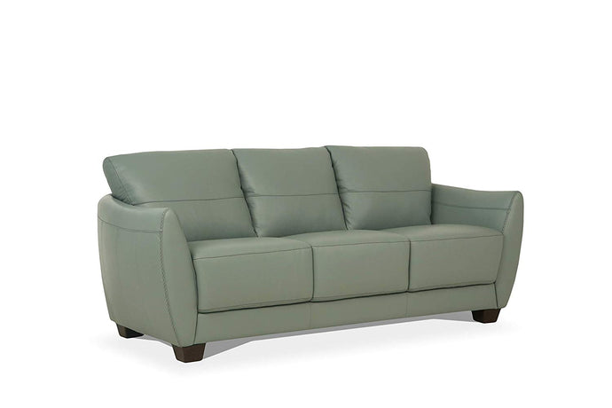 Acme Valeria Gray Leather Finish Contemporary Sofa