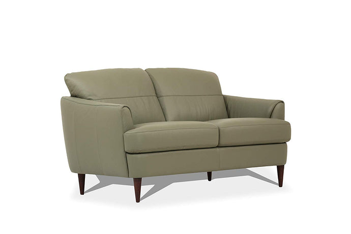 Acme Helena Green Leather Finish Loveseat