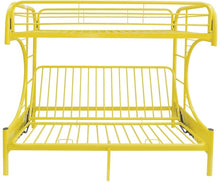 Load image into Gallery viewer, Acme 02091W YL Eclipse Yellow Youth Twin Full Futon Metal Bunk Bed