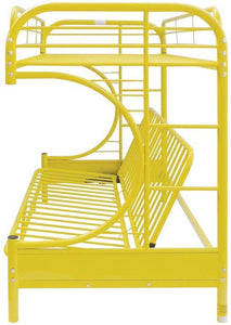 Acme 02091W YL Eclipse Yellow Youth Twin Full Futon Metal Bunk Bed