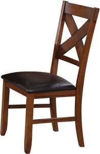 Acme Apollo Walnut Wood Finish 2 Piece Dining Side Chair