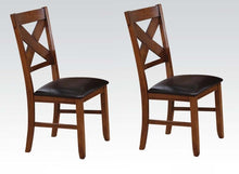 Load image into Gallery viewer, Acme Apollo Walnut Wood Finish 2 Piece Dining Side Chair