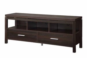 Coaster Walnut Wall Units Media TV Console With Drawers