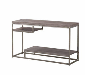 Coaster Dark Grey Chrome Frame 2 Shelf Sofa Table