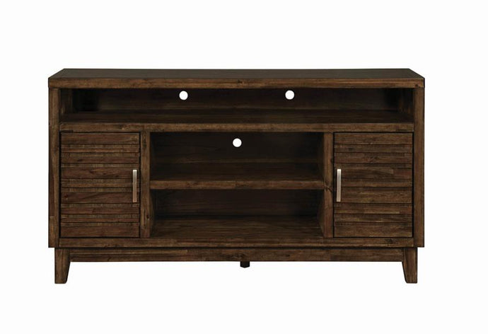 Coaster Rustic Brown Wood And Metal Finish TV Stand