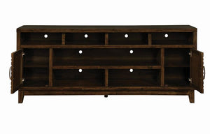 "Coaster Rustic Brown Wood Finish 84"" TV Stand"