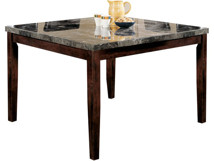 Acme 07059 Danville Black Faux Marble Walnut Counter Height Table