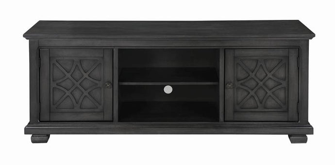 Coaster Rustic Gray Wood Finish TV Stand