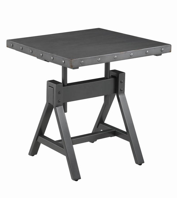 Coaster Gunmetal Wood Finish End Table