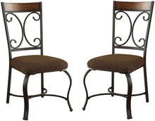 Load image into Gallery viewer, Acme Jassi Dark Cherry Metal Finish 2 Piece Dining Side Chair