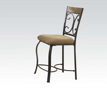 Load image into Gallery viewer, Acme Kiele Oak Antique Black 2 Piece Counter Height Dining Chair