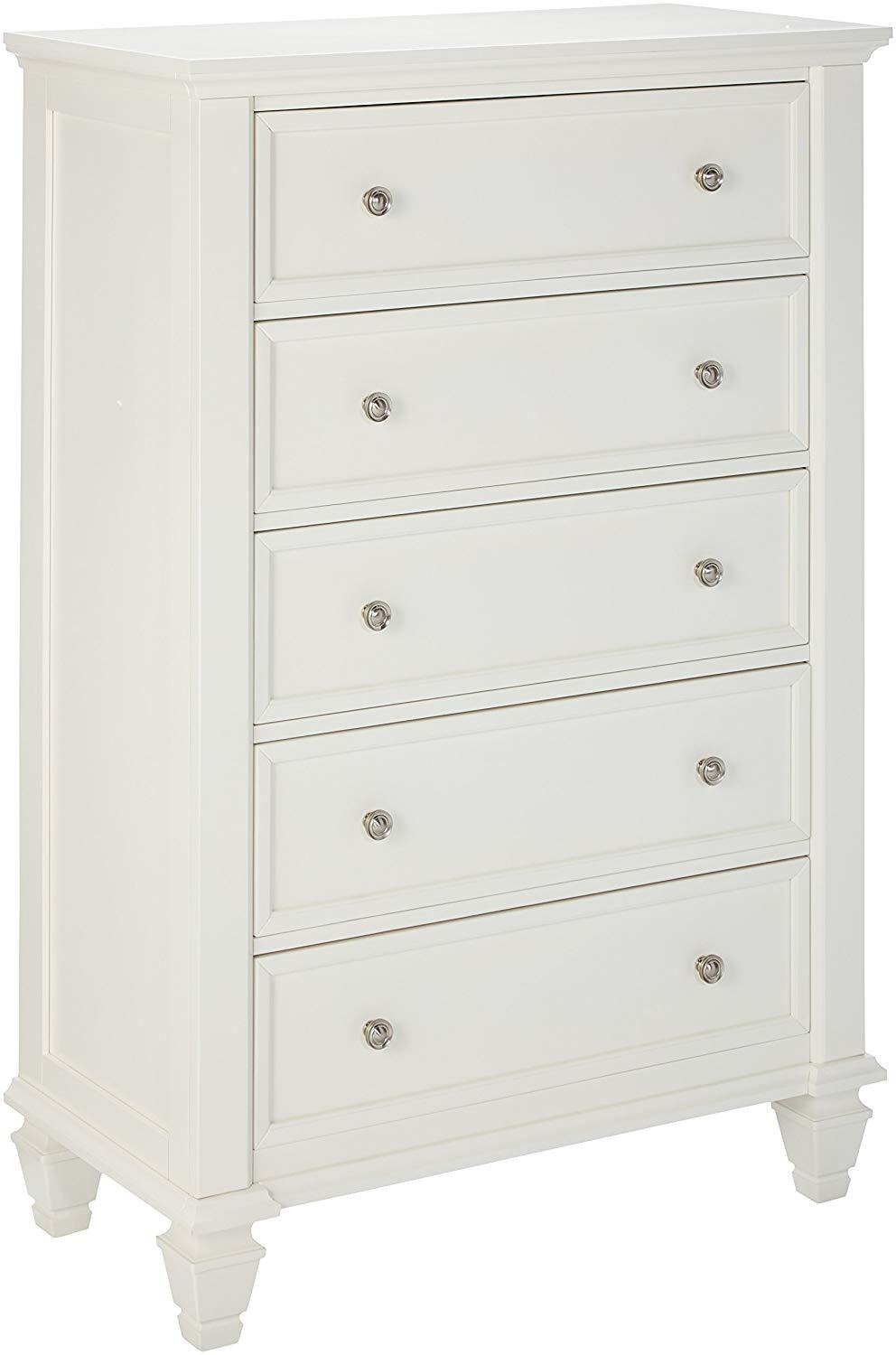 Sandy Beach White Drawers Chest