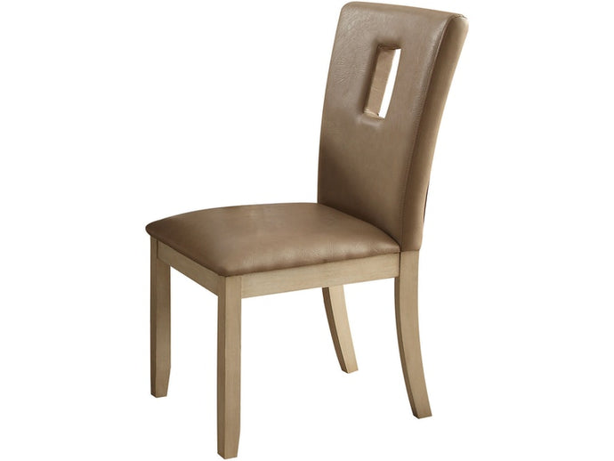 Acme Faymoor Cream PU Antique White Finish Side Chair