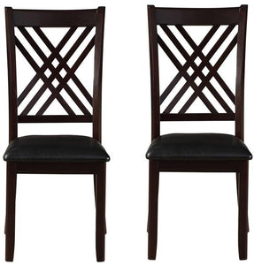 Acme Furniture Renske Black Finish Dining Side Chair Set of 2