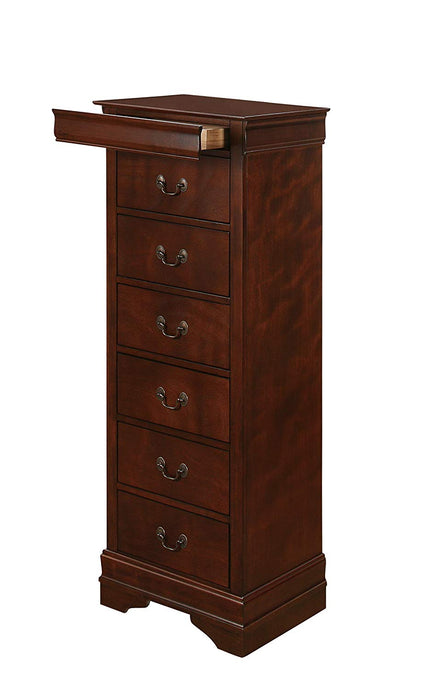 Homelegance Mayville Brown Cherry Hidden Drawer Lingerie Chest