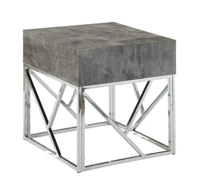 Acme 84577 Burgo Gray Marble Metal Finish End Table