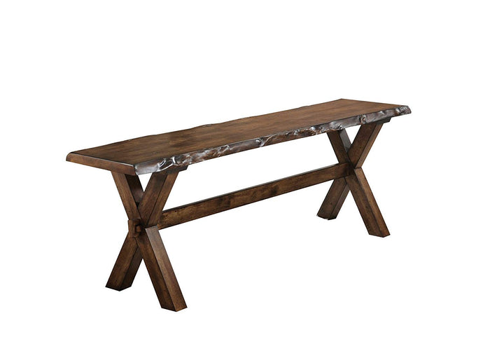 Acme Tratha Antique Oak Wood Finish Dining Bench