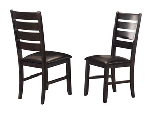 Homelegance Ameillia Dark Oak Wood Finish 2 Piece Dining Chairs