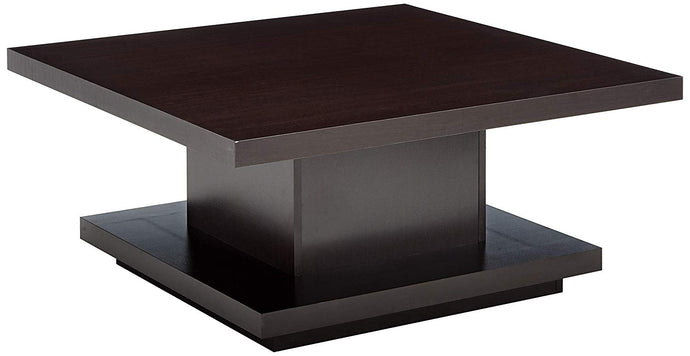 Coaster Pedestal Style Cappuccino Storage Coffee Table